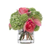 Diane James Pink And Green Bouquet