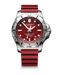 Victorinox I.N.O.X. Professional Diver Red Rubber Strap Watch 2417361