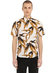 Marni Flower Print Short Sleeve Cotton Shirt