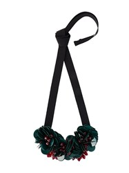 P.A.R.O.S.H. Floral Ribbon Necklace Green