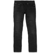 Neil Barrett Stretch Denim Biker Jeans Charcoal