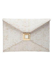 Kara Ross 'Prunella' Clutch White