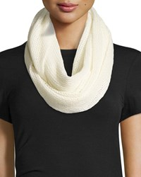 Neiman Marcus Cashmere Air Eternity Scarf Ivory