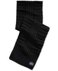 Nautica Men's Ribbed Scarf Black