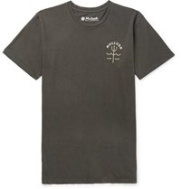 Mollusk Trident Garment Dyed Cotton Jersey T Shirt Black