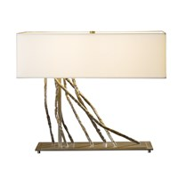 Hubbardton Forge Brindille Table Lamp Burnished Steel Natural Anna Silver