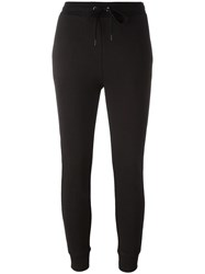 Alexander Wang T By Cropped Track Pants Black
