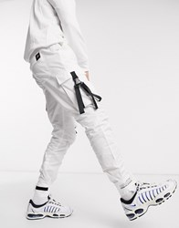Sixth June Utility Cargo Joggers In White