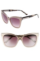 Ted Baker Women's London 57Mm Square Cat Eye Sunglasses Taupe
