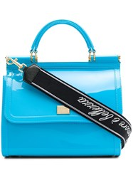 Dolce And Gabbana Sicily Tote Blue