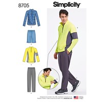 Simplicity 'S Trousers Shorts Pullover Sewing Pattern 8705