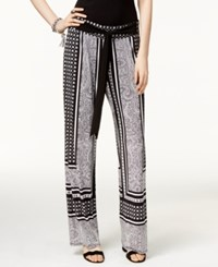 Inc International Concepts Printed Wide Leg Soft Pants Only At Macy's Carrara Marble