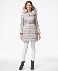 Dkny Quilted Puffer Parka Jacket Platinum