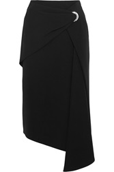 Balenciaga Wrap Effect Draped Crepe Skirt