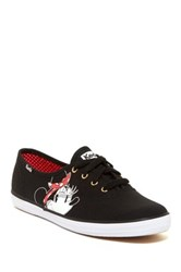 Keds Minnie Mouse Face Low Sneaker Black