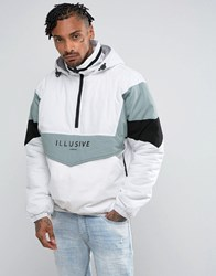 Illusive London Overhead Puffer Jacket In White
