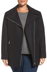 Calvin Klein Plus Size Women's Asymmetrical Wool Blend Coat