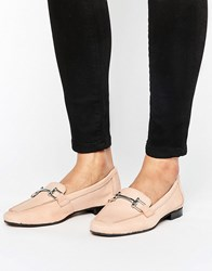 New Look Leather Buckle Detail Loafer Pink