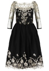 Chi Chi London Edie Cocktail Dress Party Dress Black Gold