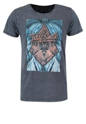 Teddy Smith Trident Print Tshirt Anthracite