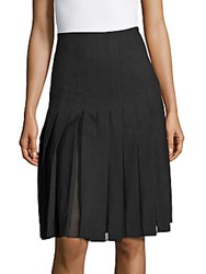 Sandro Jemma Box Pleated Skirt Charcoal