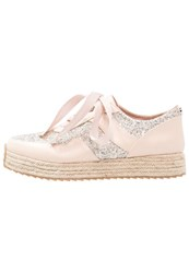 Lipsy Casual Laceups Silver Rose