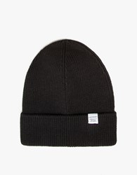 Norse Projects Cotton Watch Beanie In Black