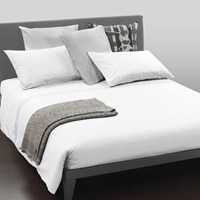 Trussardi Bold Stitch Duvet Set Pearl Super King