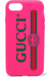 Gucci Silicone Iphone 7 Case Pink