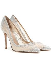 Gianvito Rossi Rania Crystal Embellished Pumps Silver