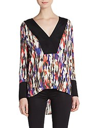 French Connection Record Abstract Print Hi Lo Tunic Print Multi
