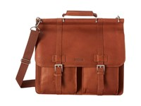 Kenneth Cole Reaction Colombian Leather Dowel Rod Portfolio Computer Case Cognac Briefcase Bags Tan