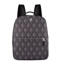 Dunhill Engine Turn Print Backpack Grey