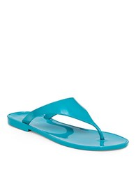 Bcbgeneration Jelly Thong Sandals Turquoise Blue