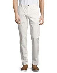 Brooks Brothers Solid Straight Leg Pants White