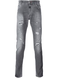 Philipp Plein Super Straight Cut Jeans Grey
