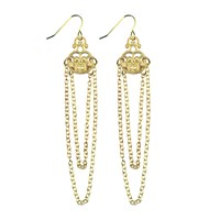 Lucy Ashton Jewellery Gold Filigree Chain Earrings