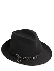 Stella Mccartney Metal Chain Wool Felt Hat