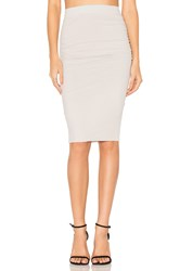 James Perse Shirring Pencil Skirt Light Gray