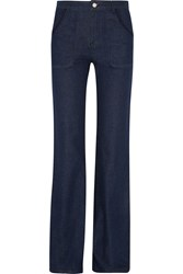 See By Chloe Embroidered High Rise Flared Jeans