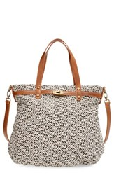 Sole Society Oversize Fabric Shoulder Tote