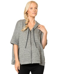 A Pea In The Pod Dolman Sleeve Heathered Maternity Hoodie