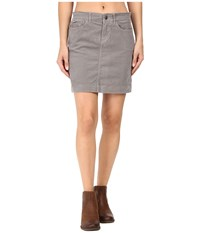 Mountain Khakis Canyon Cord Skirt Slim Fit Lunar Women's Skirt Gray