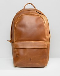 Timberland Leather Backpack Brown Brown