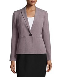Nipon Boutique Notched Lapel Twill Jacket Lilac Black