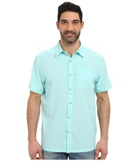 Columbia Slack Tide Camp Shirt Gulf Stream Men's Short Sleeve Button Up Blue