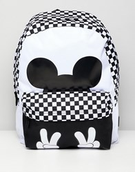 Vans X Disney Checkerboard Mickey Realm Backpack White