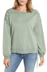 Billy T Lace Up Sweatshirt Army