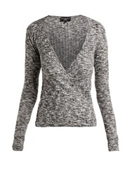 Pepper And Mayne Grace Ballet Wrap Top Grey