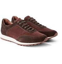 Loro Piana Weekend Walk Two Tone Suede Sneakers
